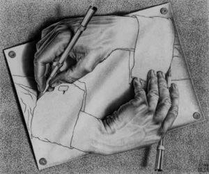 Escher - maini ce deseneaza - paradox
