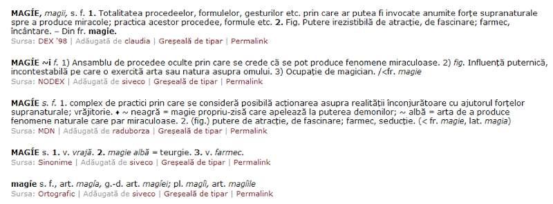 definitie magie