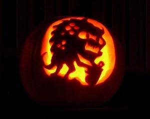 bostan scluptat monstru de halloween