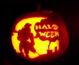 bostan cu mesaj Halloween