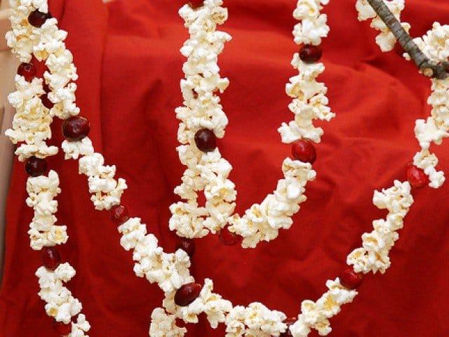 decoratiuni de craciun popcorn
