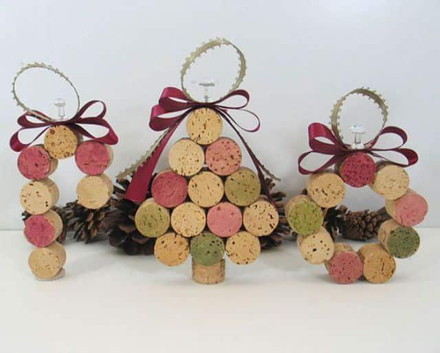 ornamente pentru craciun din dopuri de pluta