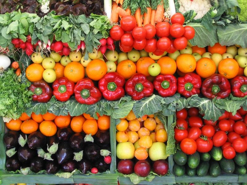 Fructe si legume proaspete - Alimente care nu includ carnea