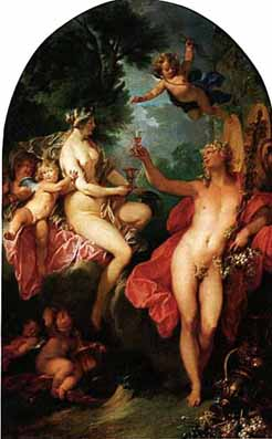 La curtea lui Dionysios - tabloul filozofilor 2