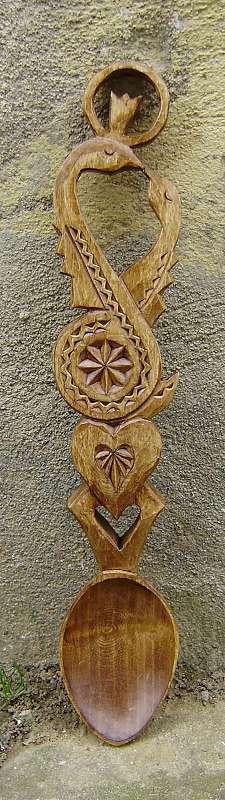 Lingura din lemn model cu stea