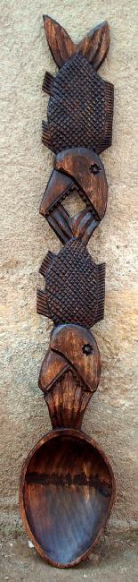 Lingura de lemn - modelul pestilor