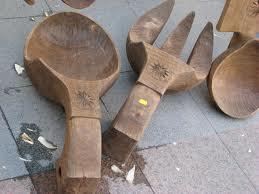 Lingura si furculita din lemn