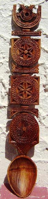 Model de lingura de lemn din Maramures