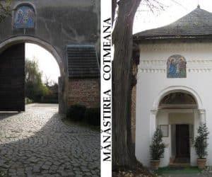 Manastirea Cotmeana intrare