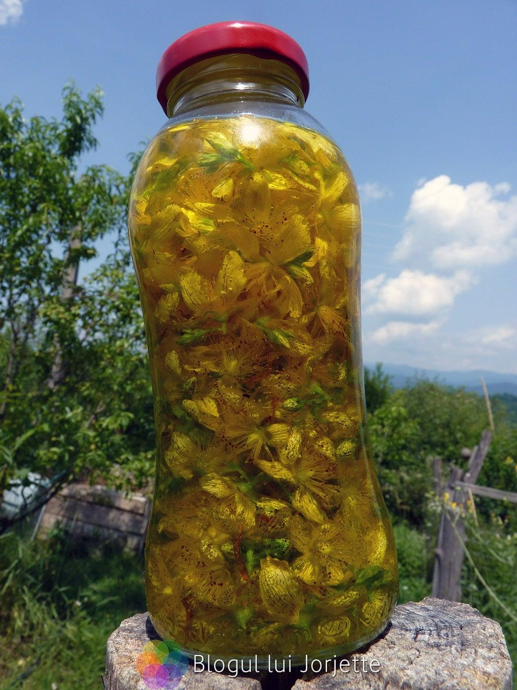 Flori de sunatoare la macerat in ulei