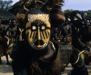 Masca africana din tribul kuba min