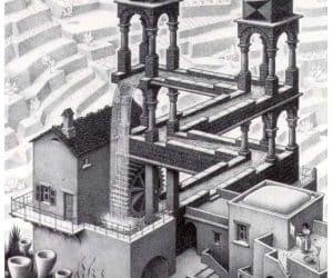 Galerie Iluzii optice - Cascada lui M. C. Escher