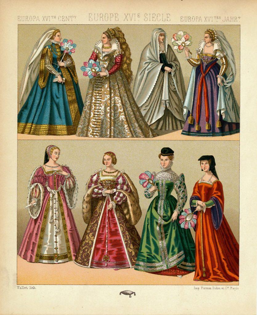 Costumul in secolele 15 16 rochia in europa secolului 16