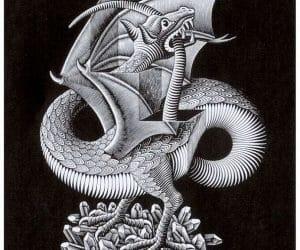 Galerie Iluzii optice - Dragonul
