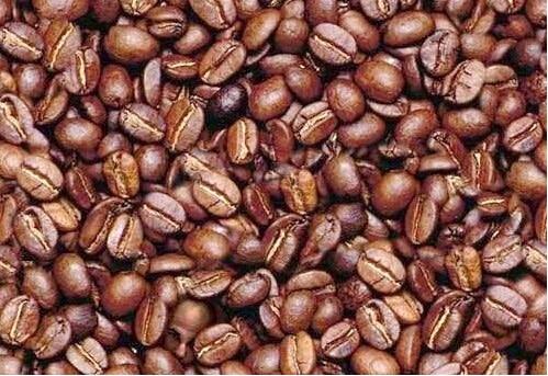 Galeria cu iluzii optice - fata dintre boabele de cafea
