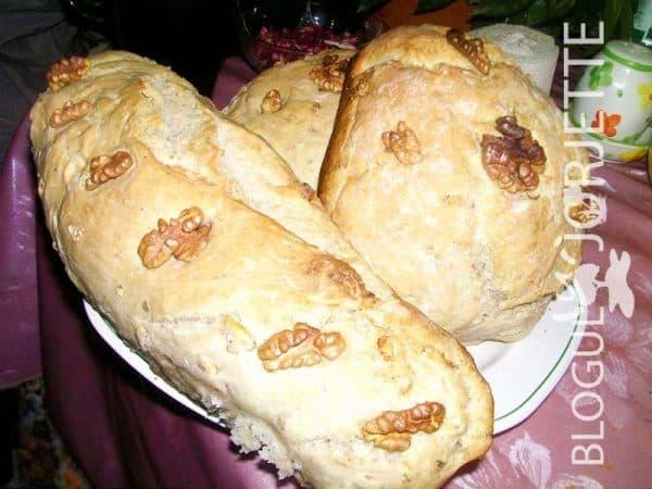 painea de casa cu nuci