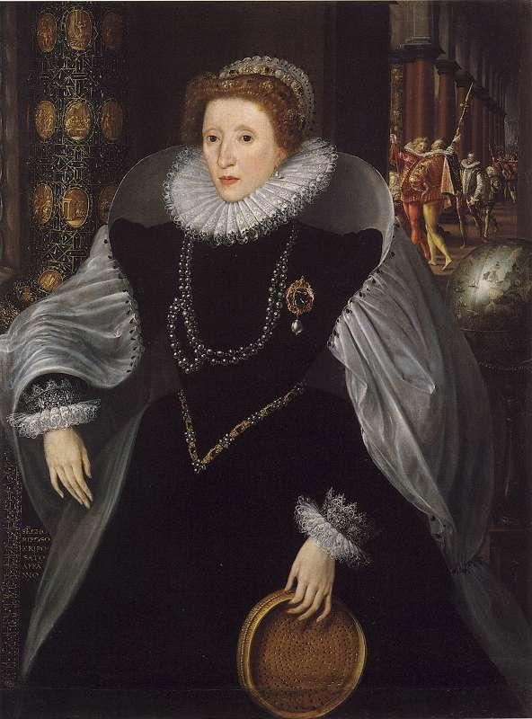 costumul medieval englez portretul Elisabetei secolul XV