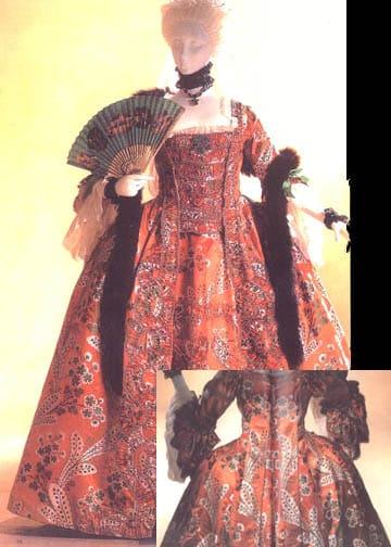 costumul francez - rochie watteau