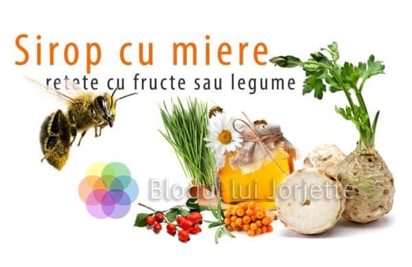 sirop cu miere si fructe sau legume