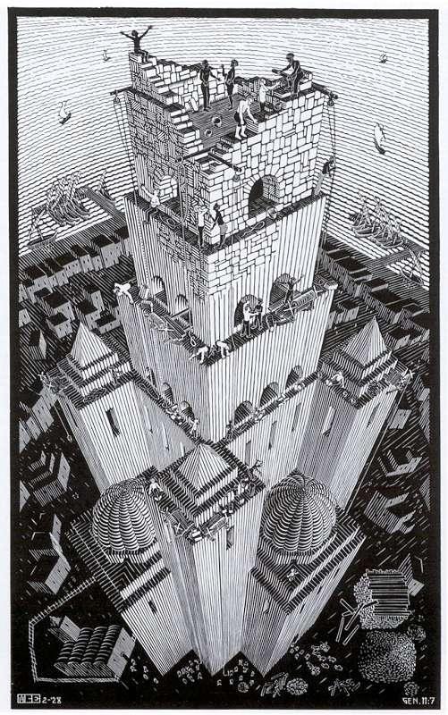 Galerie Iluzii optice - Turnul Babel