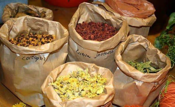 Plante medicinale ambalate in pungi de hartie