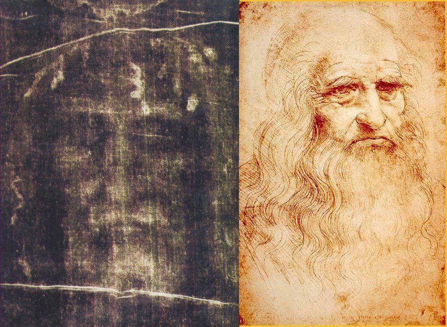 Chipul lui Leonardo Da Vinci pe Giulgiul din Torino
