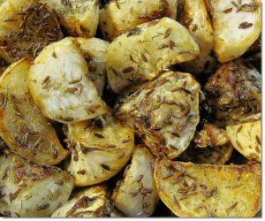 chimenul in bucatarie - cartofi copti cu chimen
