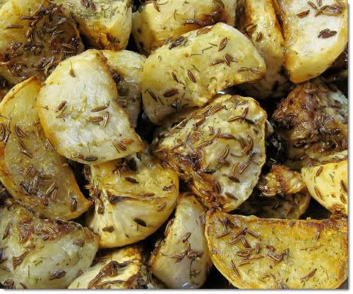 chimenul in bucatarie cartofi copti cu chimen