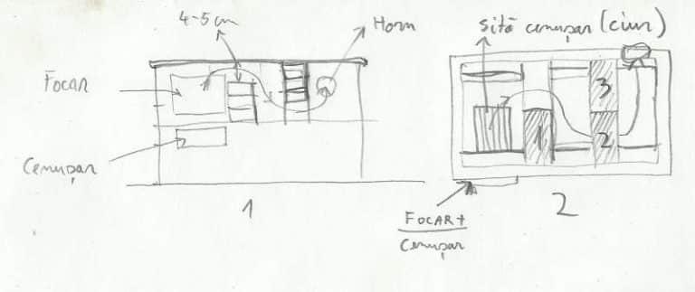 Sobe teracota cu plita - proiect de fumuri la soba de teracota 1