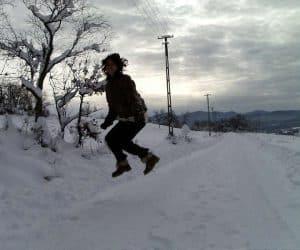 Fotografii de iarna - În aer pe bune!