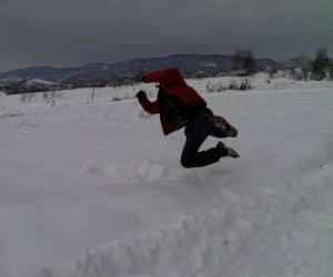 Fotografii de iarna - În reluare se vede mai bine plonjonul?