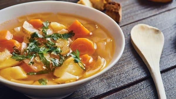 Supa de legume cu crochete de cascaval