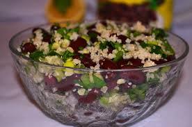 salata de bulgur cu fasole rosie