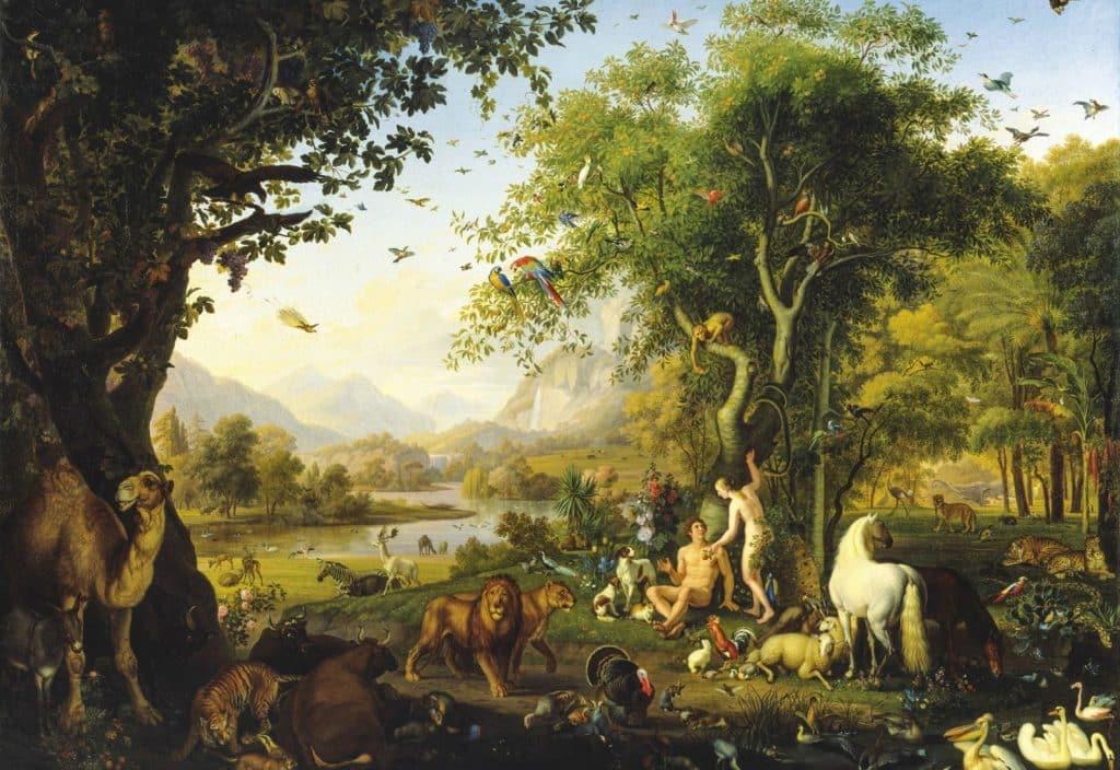 Animalele si plantele medicinale - Adam si Eva în gradina paradisului