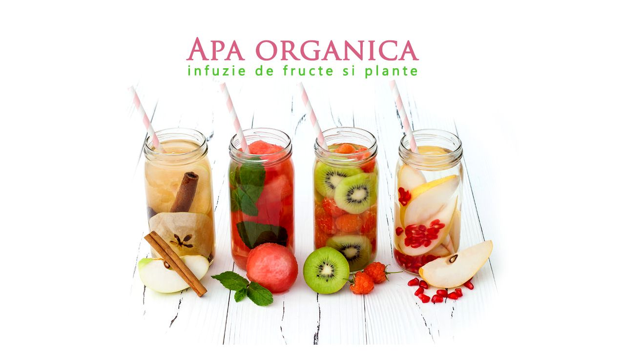 Apa organica infuzie fructe si plante