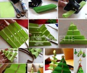 idei-brad-de-craciun-din-hartie-creponata-verde