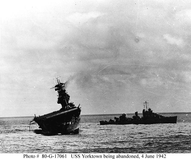 Batalia de la Midway reprezentată de epava portavionului Yorktown 3
