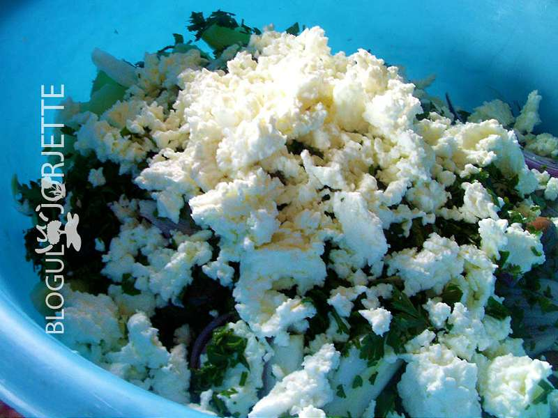 branza de vaca in salata orientala