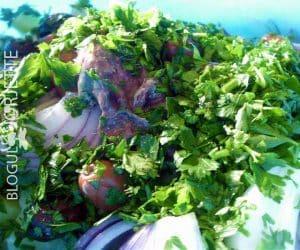 pasii in prepararea salatei orientale