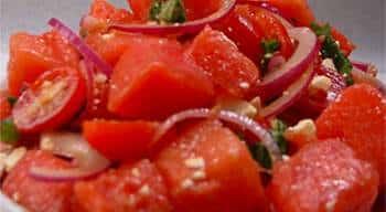 salata de rosii ceapa branza feta