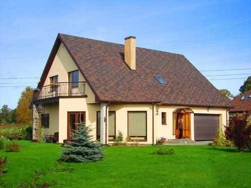 model casa pe structura de lemn