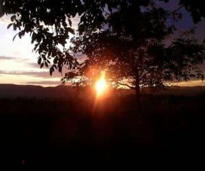 Apus de soare la Vidra