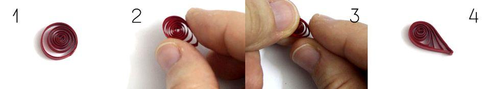 Lacrima folosind spirala quilling