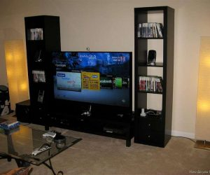 camera cu TV - media room design