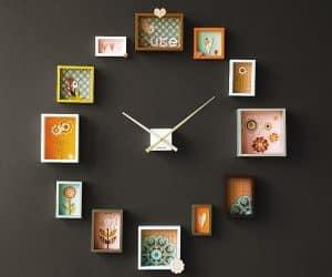 cum sa-ti faci un ceas pe perete din tablouri mic