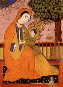 Fecioara Maria si Isus intro miniatura persiana
