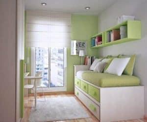 patul cu rafturi - idee pentru studentie