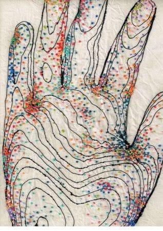 Rebecca Harris stiinta cusutului microbii de pe palme