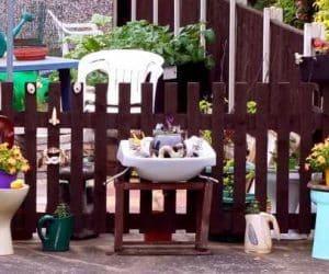 DIY chiuveta si wc folosite ca si ghivece pentru flori