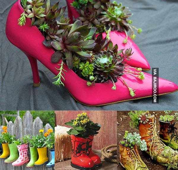 DIY cizme si papuci pentru flori
